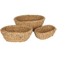 3 Piece Burleigh Oval Basket Set