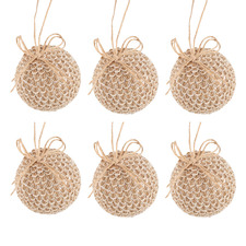 Mosly Burlap-Wrapped Baubles (Set of 6)