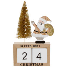 Sleeps Until Christmas Advent Calendar Ornament