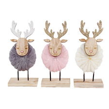 3 Piece Sleeping Reindeer Ornament Set