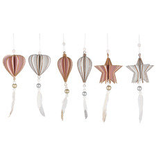 6 Piece Constantine Hanging Ornament Set