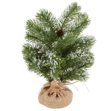 Snowy Pine Tabletop Christmas Trees (Set of 2)