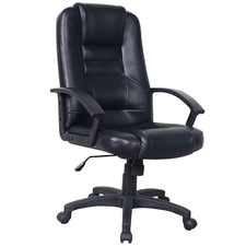 Black Raswell Faux Leather Executive Office Chair