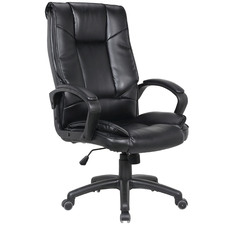 Black Lachlan Faux Leather Executive Office Chair
