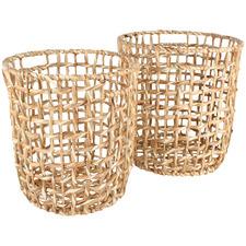 2 Piece Bento Water Hyacinth Basket Set