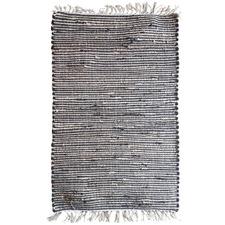 Black Andes Tasselled Cotton-Blend Rug