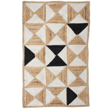 Natural Holi Prism Hand-Knotted Cotton & Jute Rug