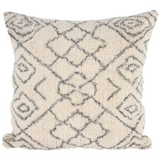 Cream & Black Aspo Cotton Cushion