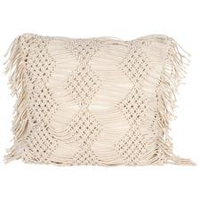 Vista Macramé Fringed Cotton Cushion