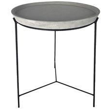 Black Dante Cement-Top Side Table