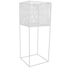 White Square Amber Metal Plant Stand