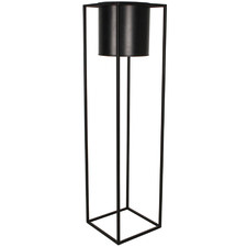 Black Cubo Metal Flower Pot Plant Stand