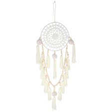 White Selina Hand-Knotted Dream Catcher
