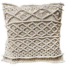 Boho Macramé Fringed Cotton Cushion