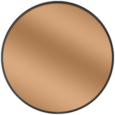 Bagi Copper-Coloured Round Mirror