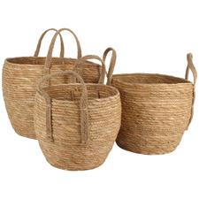 3 Piece Ropa Natural Fibre Basket Set
