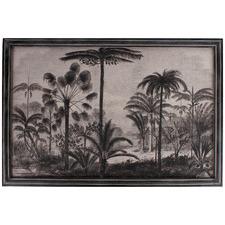 Vintage Jungle Framed Canvas Wall Art