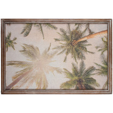 Vintage Palm Trees Framed Canvas Wall Art