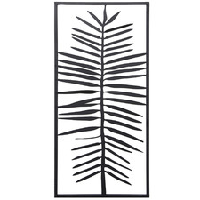 Black Palm Hanging Metal Wall Accent