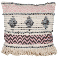 Grey & Pink Indra Cotton Cushion