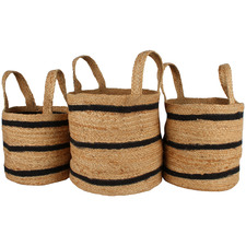 3 Piece Ovela Jute Basket Set