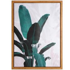 Palm Leaf Tree Framed Canvas Wall Art