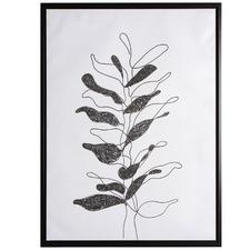 Monochrome Drawn Tree Framed Canvas Wall Art