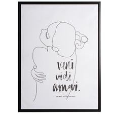 We Came We Saw We Loved Framed Canvas Wall Art