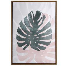 Monstera Leaf Framed Canvas Wall Art