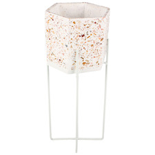 Terrazzo Style Luca Planter on Stand