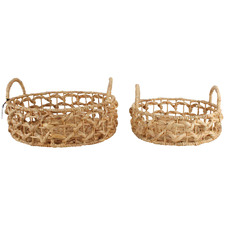2 Piece Lana Water Hyacinth Basket Set