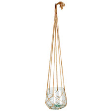 Macrame   Storm Jute & Glass Hanging Planter