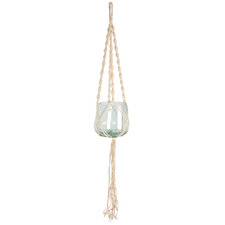Macrame   Cori Jute & Glass Hanging Planter