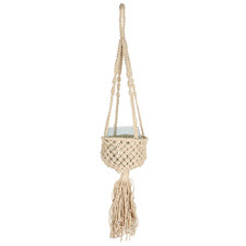 Macramé Flow Luxe & Glass Hanging Planter
