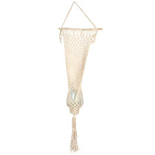 Macramé Summer Jute & Glass Hanging Planter