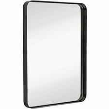 Black Melanie Rectangular Mirror