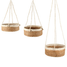 3 Piece Airlie Jute & Seagrass Hanging Planter Set