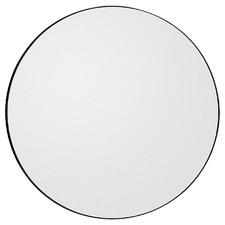 Black Melanie Round Mirror