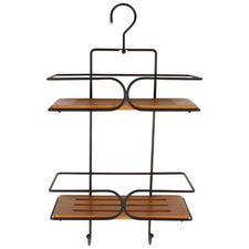 Two Tone Bamboo & Steel Shower Caddy