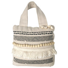 Beige Boho Cotton & Hemp Doorstop