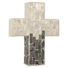 Silver & Black Ada Cross Wall Accent