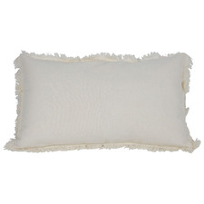 Fringed Ripley Rectangular Cotton & Linen Cushion