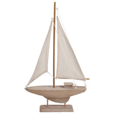 White Washed Sea Yacht Decorative Ornament