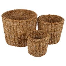 3 Piece Anglesea Seagrass Basket Set
