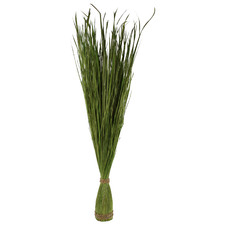 106cm Faux Green Tall Splayed Reed Grass