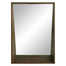 Dark Timber Mossman Wall Mirror With Shelf