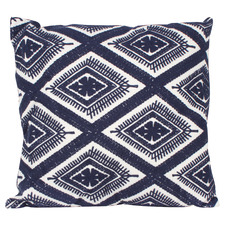 Navy & White Wonder Embroidered Cushion
