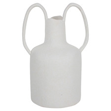 White Scorpio Vase With Large Handles