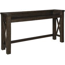 Dark Timber Hallishaw Pine Wood Bar Table