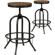 Medium Timber Pinnadel Adjustable Barstools (Set of 2)